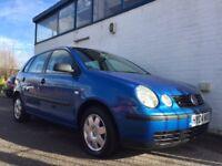 2004 VW POLO, 1.4 PETROL HATCHBACK, BLUE, 3 DOOR, MANUAL