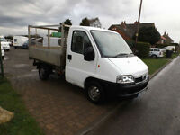 2006 06 Fiat Ducato Flat Bed Pick Up With Cage Sides NO VAT