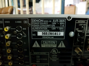Denon AVR-3805 Receiver and Bose Acoustimass 16 speakers