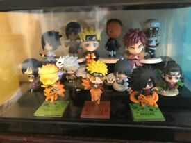 Naruto mini figures figure sets with free case