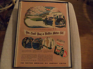 OLD CLASSIC CAR GAS STATION AD Windsor Region Ontario image 2