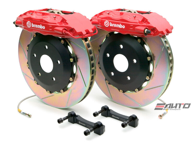 Brembo Rear Gt Brake 4pot Red 355x32 Slot Escalade 02-06 Chevy Gmc 1500 02-06