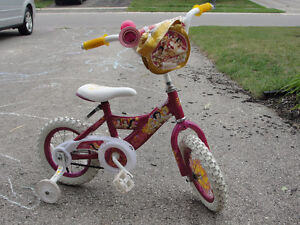 Pink Disney Princess Bike with Removable Training Wheels London Ontario image 1