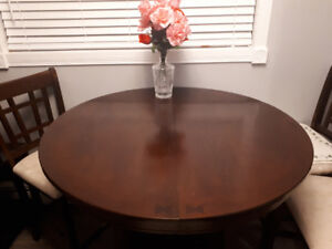 BAR STYLE TABLE + 4 CHAIRS + INSERT