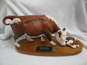 Hereford Cow and Calf, A connoisseur Model by Beswick England