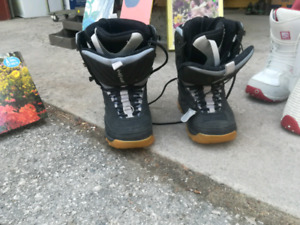 Snowboards, bindings and boots
