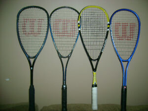 Wilson and Black Knight squash racquet for sale
