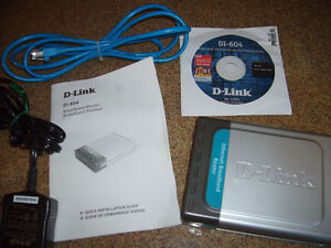 D-LINK BROADBAND ETHERNET ROUTER/Cable , Guide, Adapter,