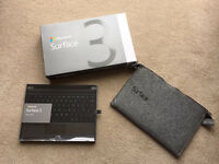 NEW! Microsoft Surface + keyboard + Case