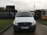 2015 15 MERCEDES-BENZ VITO 2.1 113CDI LONG 136BHP FACELIFT. AIRCON. 1 OWNER. FMB
