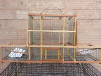 hand made bird cage with traps for sale . brand new