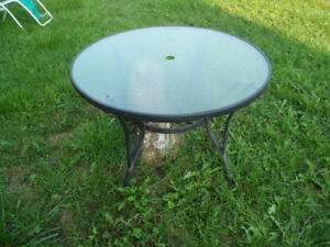Glass Round  Patio Table