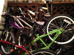 lot of 10 bikes for girls,boys,adults