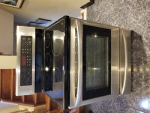 Stainless steel LG  electric stove