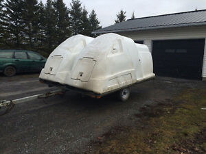 Double snowmobile trailer/ toy hauler