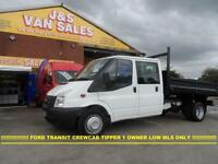 2012 12 FORD TRANSIT T350 CREW CAB TIPPER T350 DIESEL 2012/12 REG ONLY 47000 MLS