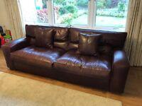 DURESTA Panther grand sofa - dark brown /chesnut leather