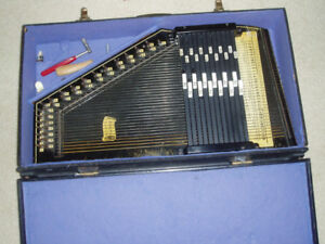 Autoharp, Oscar Schmidt.  12 chord, with case and tunning lever.