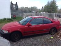 95 civic si parts car for sale, $300 obo