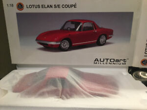 1:18 Autoart Lotus Elan S/E Coupe  RED  / Yellow