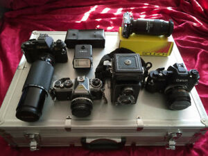 Nikon, Canon, Minolta Film Cameras, Lenses, Filters, Accessories