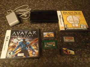 Nintendo Ds lite with pokemon emerald and other games