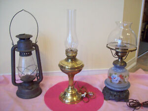 ANTIQUE AND VINTAGE LANTERNS + LIGHT LAMP *SEE EACH PRICE
