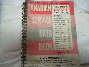1964 Can. service data book