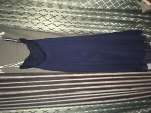Lace and chiffon strapless dress (actually fits size 14ish)