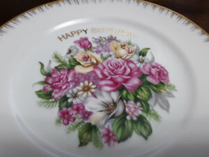 FINE PORCELAIN CHINA PLATE  - HAPPY BIRTHDAY - JAPAN