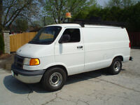 2001 Dodge Van, low km Good on gas v-6 full size workvan!