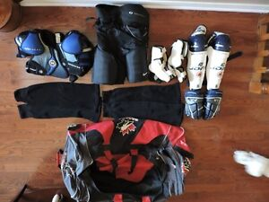 Excellent Hockey Equipment- Bag, Gloves, Socks, ShinPads, Pants