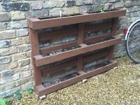 Stunning Upcycled Crate Planter - Excellent Condition - Durable & Treated with Outdoor Paint