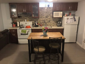 Wonderful New Separate Entrance Basement Apartment Must See!!
