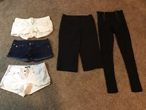 3 pairs of shorts, 1 pair of capris and 1 pair of pants Kitchener / Waterloo Kitchener Area image 1