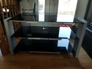 GLASS ENTERTAINMENT STAND FOR SALE