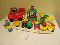 FISHER PRICE LITTLE PEOPLE CHUNKY JOUET LOT FIGURINES PERSONNAGE