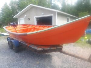 18 ft Dory and Engine for Sale