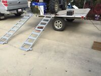 "2 place Quad trailer - Aluma 7' 7"" wide x 8' 5"" long"