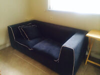 FREE: Adorable Blue Loveseat in Great Condition