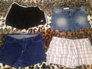 Old navy, Reitmans, Adidas and Contrast shorts.