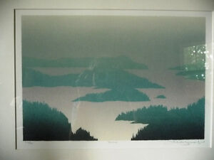 "Original Hand Signed Serigraph, Peter and Traudl Markgraf ""Dusk"" Stratford Kitchener Area image 2"