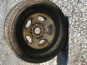 pneu et rame