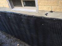Specializing in Waterproofing weeping tile parging