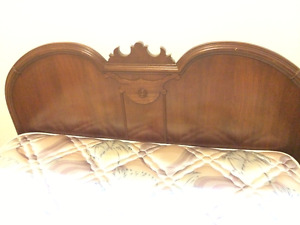 Antique bed and dresser