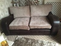 2 MONTHS OLD BROWN SOFAS 2 AND 3 SEATER SOFAS ** CAN DROP OFF **