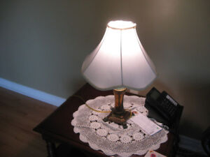 1 BIG LAMP IN GOOD COND. $10.00 2 SMALL ONES $15.00