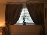 Gold/bronze shimmer curtains