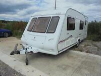 Compass Connoisseur 6 berth caravan with bunk beds