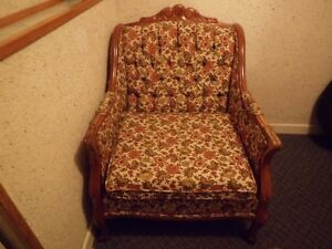 vintage french provincal couch and chair